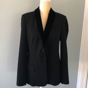 NWT A.L.C. Black velvet trimmed blazer